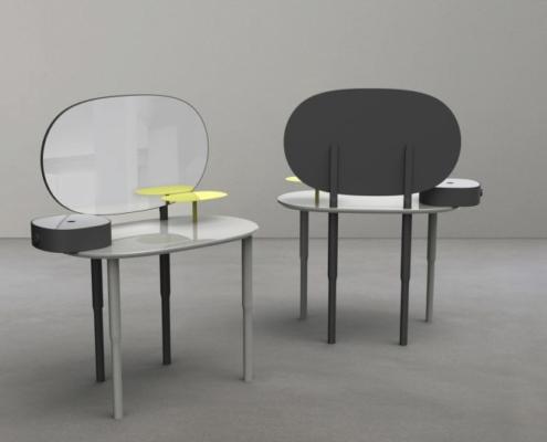 Coiffeuse MUSE pour la Galerie Gosserez © Maxime Champion